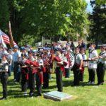 21 band at Jamestown NY Memorial Day ceremony May 2019